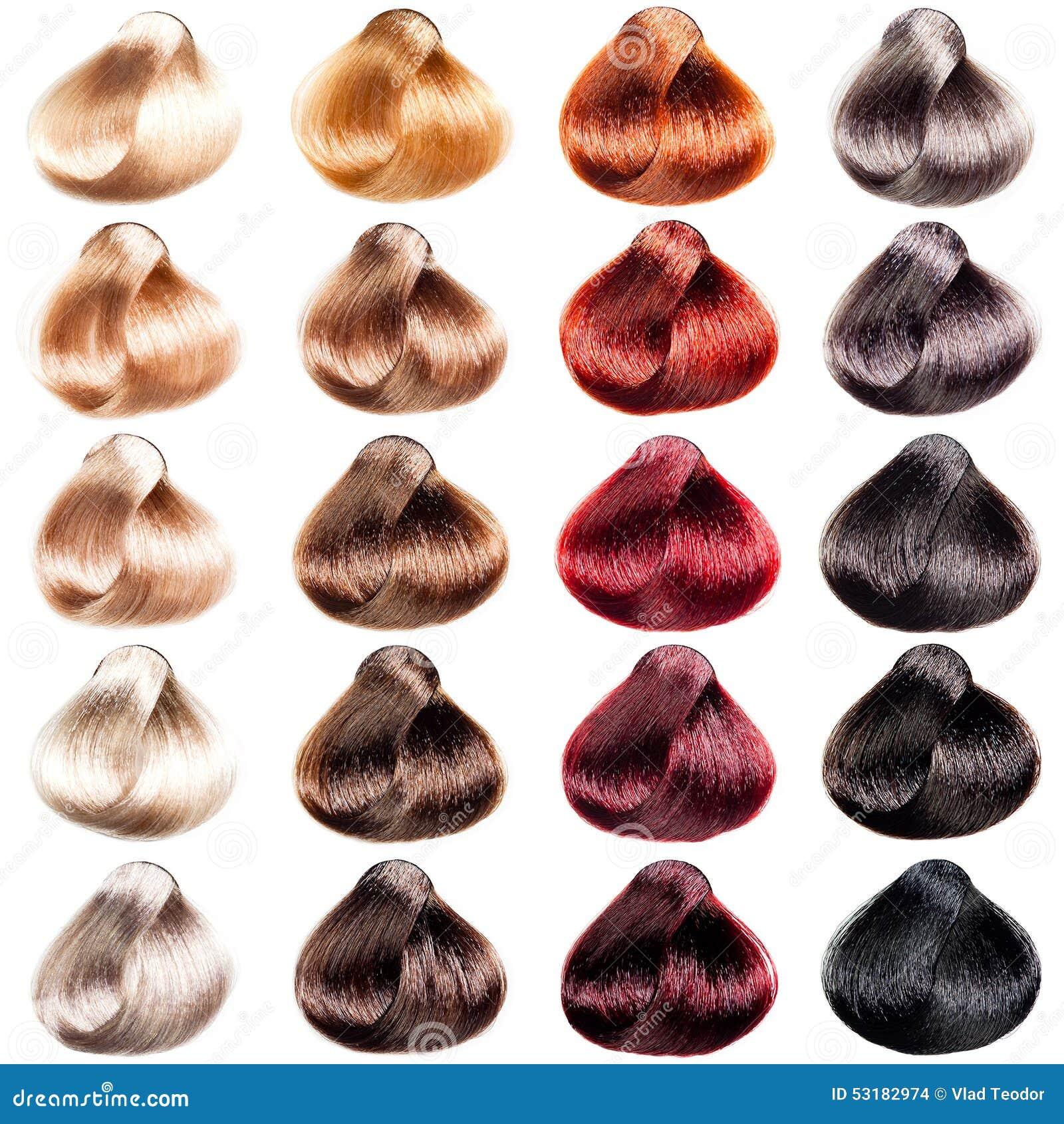 Краска для волос концепт палитра цветов на волосах