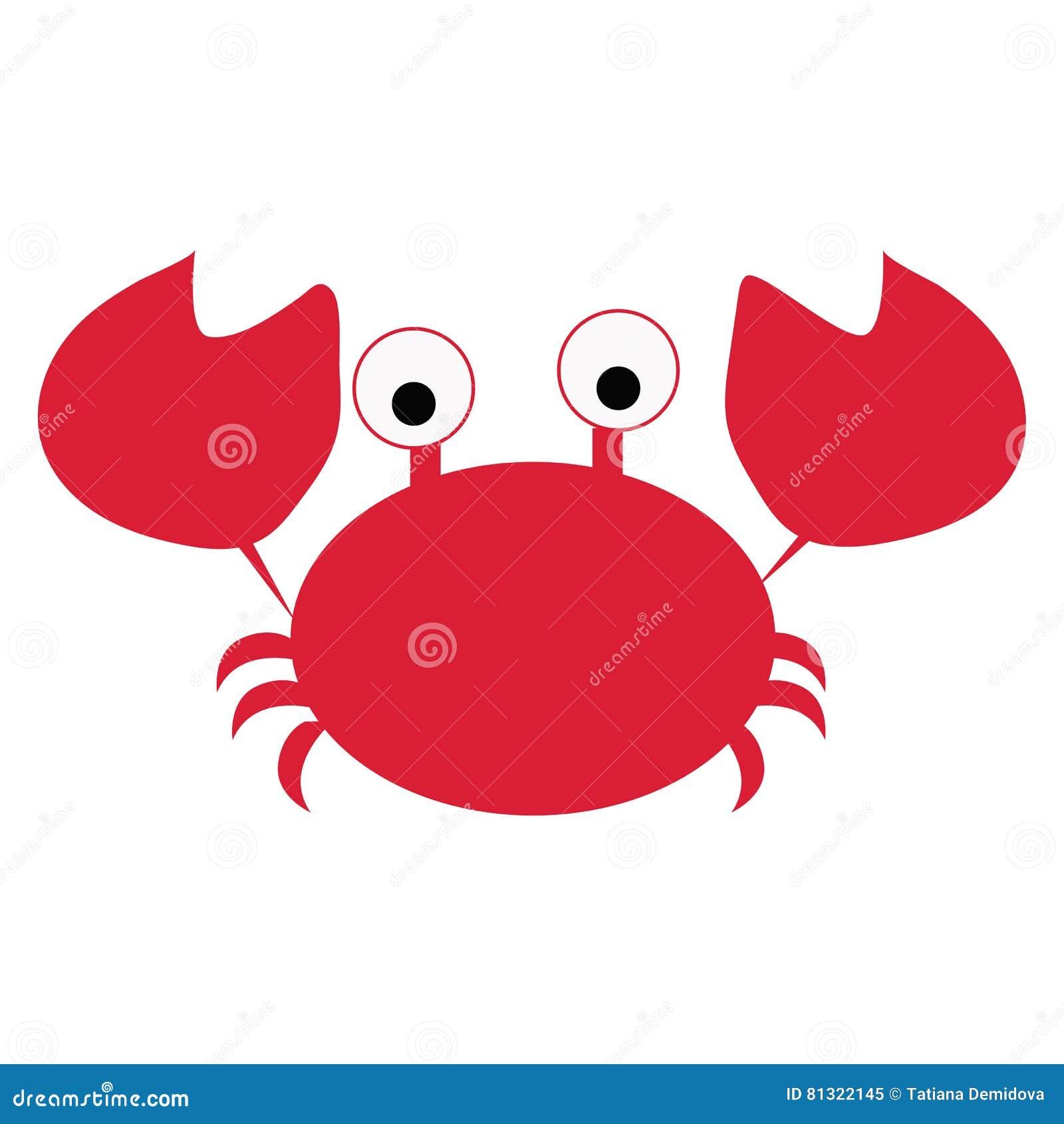 Red Crab Cartoon Vector Icon Illustration. Cartoon Vector ...