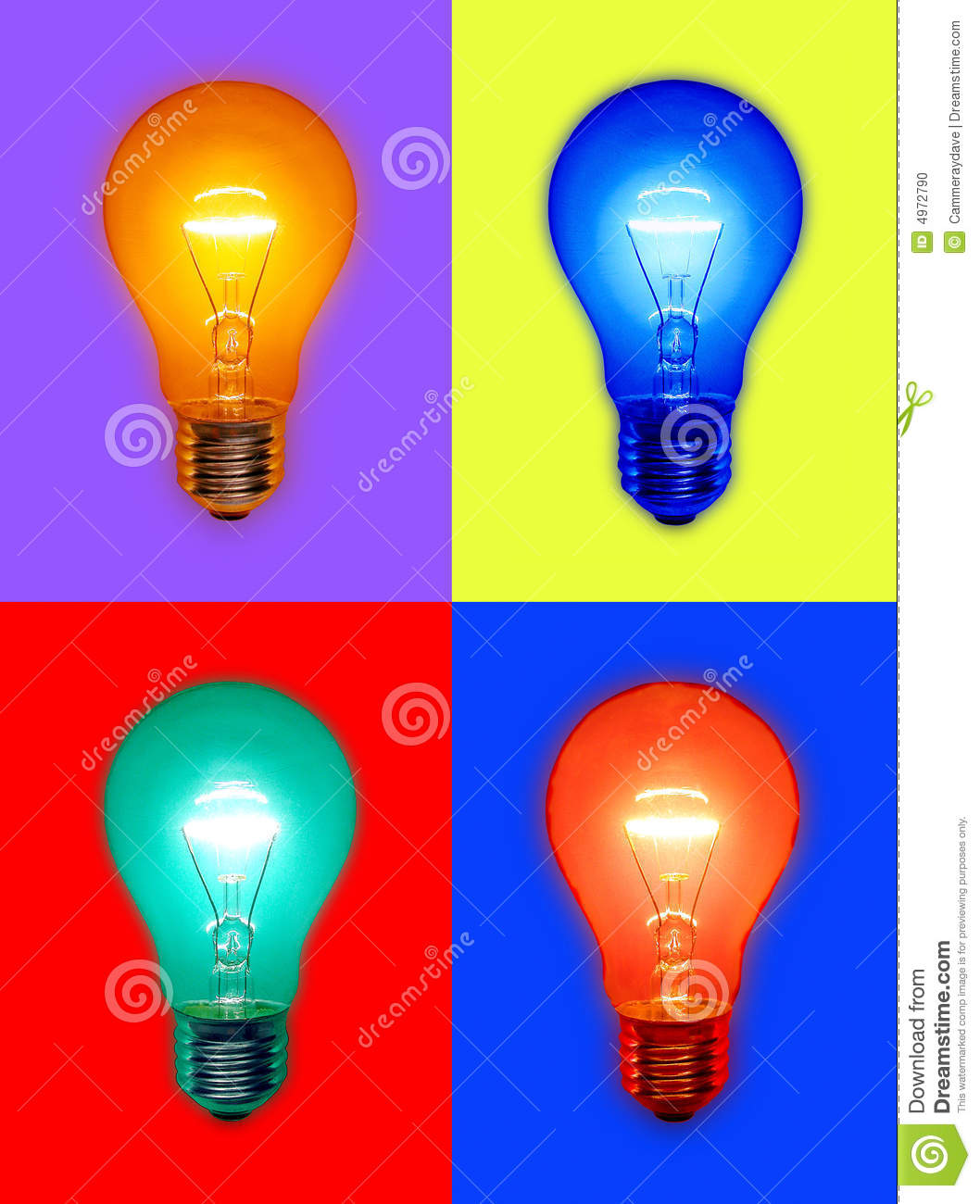 Colored Light Bulbs Stock Photo Image Of Glowing Colorful 4972790