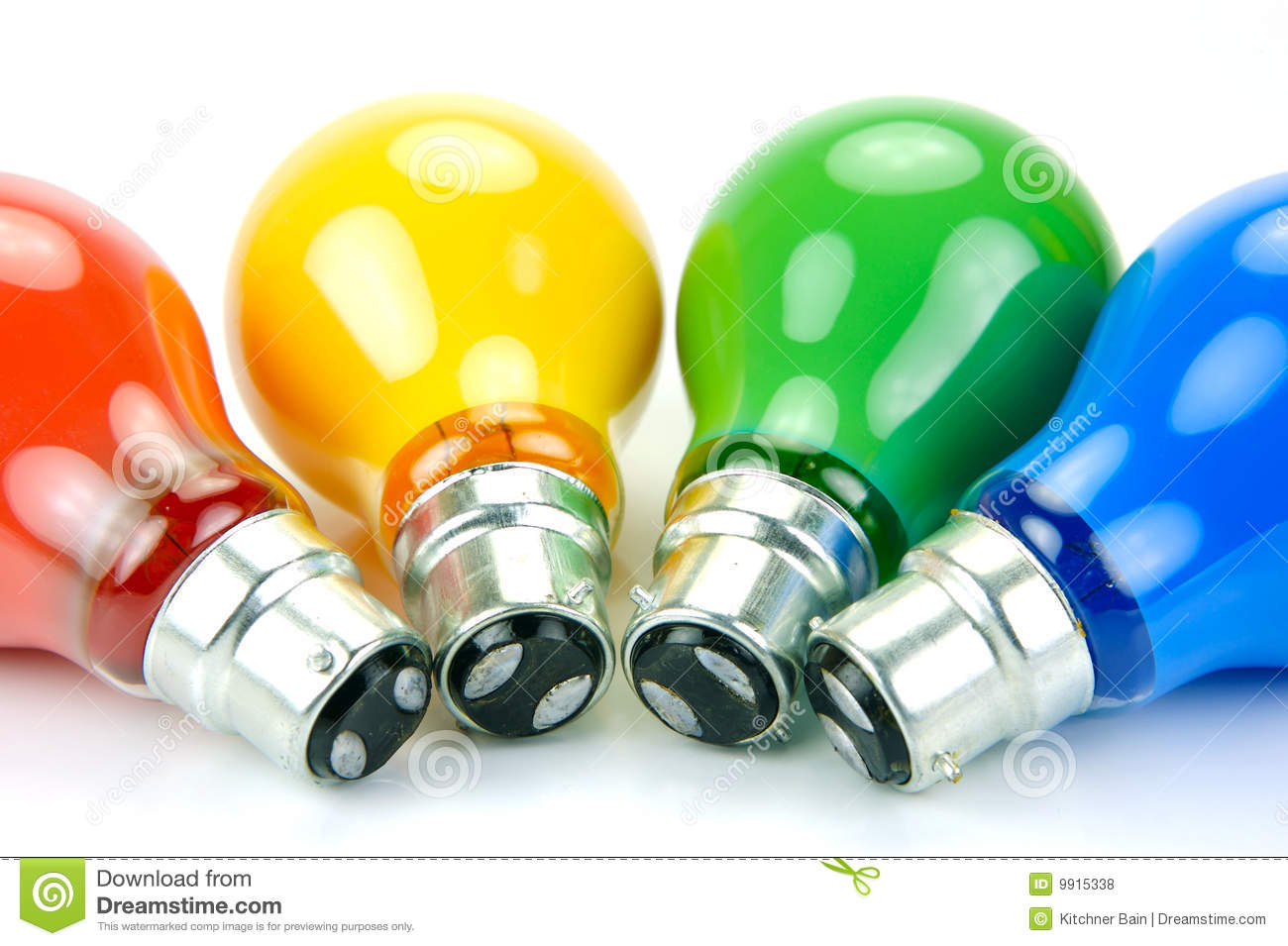 Colored Light Bulbs Royalty Free Stock Photos Image 9915338