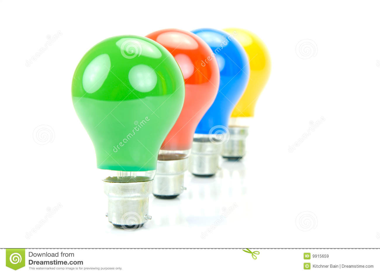 bulbs colored isolated light - Colored Light Bulbs
