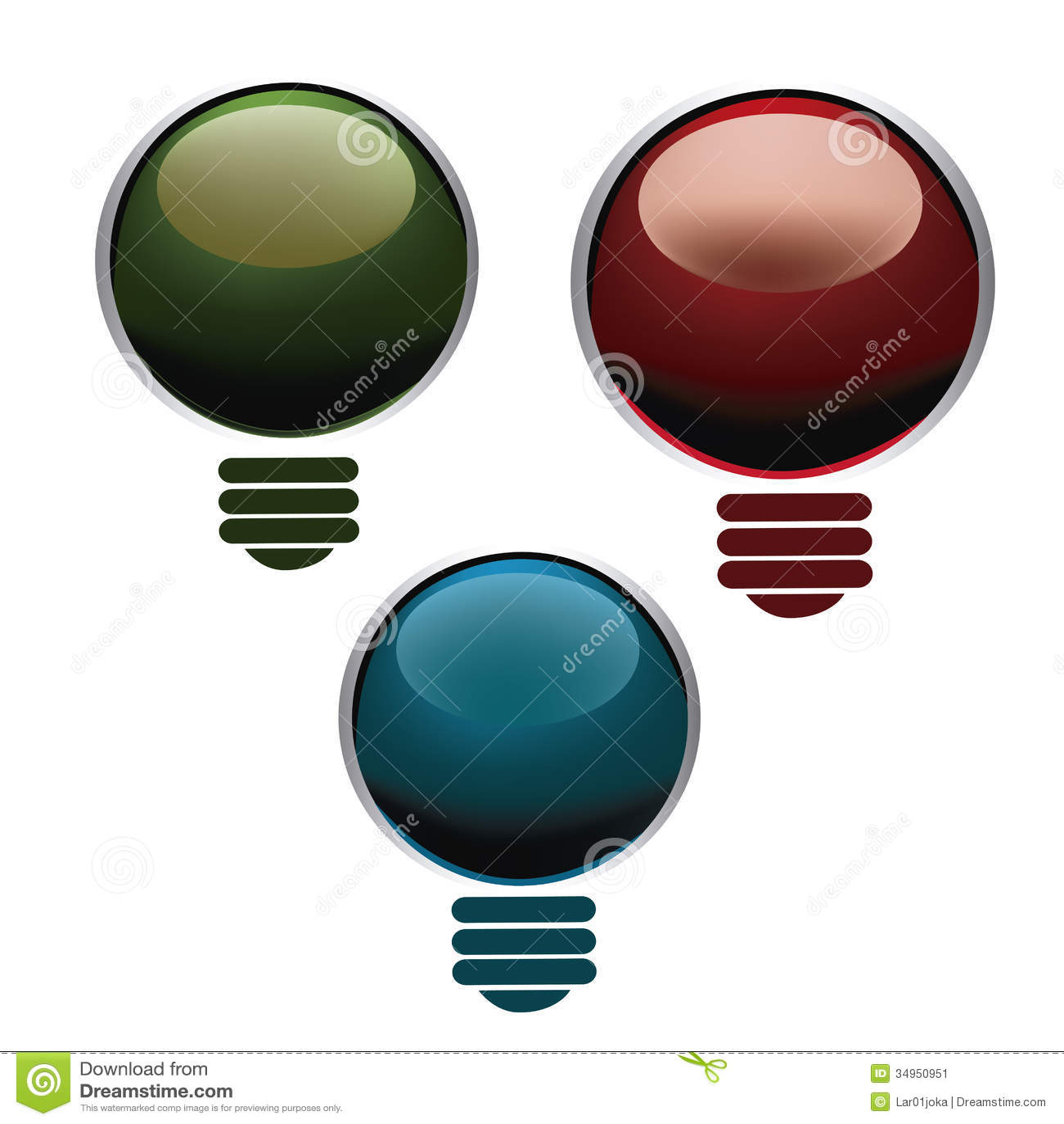 colored lightbulbs stock image image 34950951. Black Bedroom Furniture Sets. Home Design Ideas