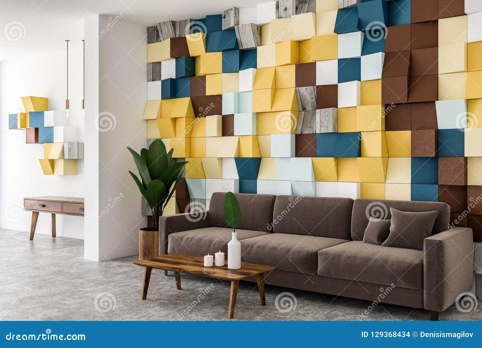 Wondrous Colored Living Room Corner Brown Sofa Stock Illustration Evergreenethics Interior Chair Design Evergreenethicsorg