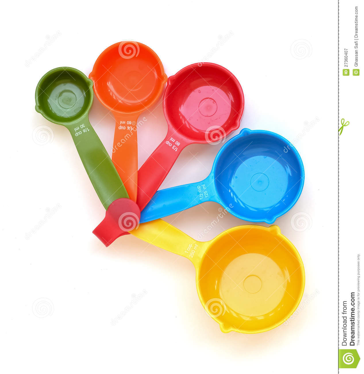 dry measuring cups colored measuring cups royalty free stock photography 12378