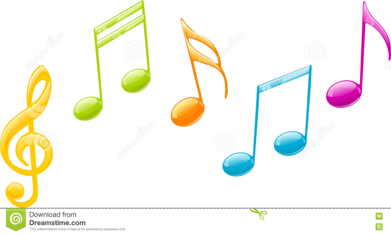colored music notes stock vector illustration of trade 72020021