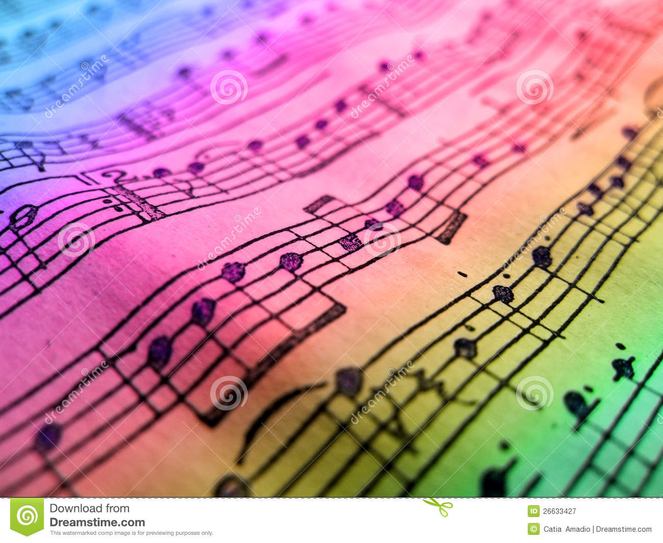 colored music sheet stock image image of duration background