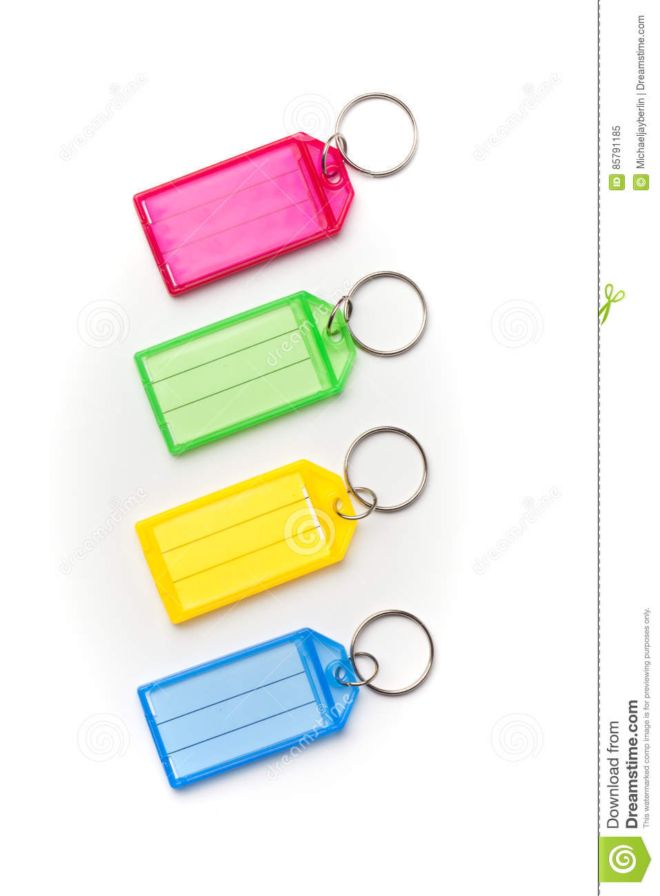 Colored Name Tags, Isolated On White Stock Image - Image of