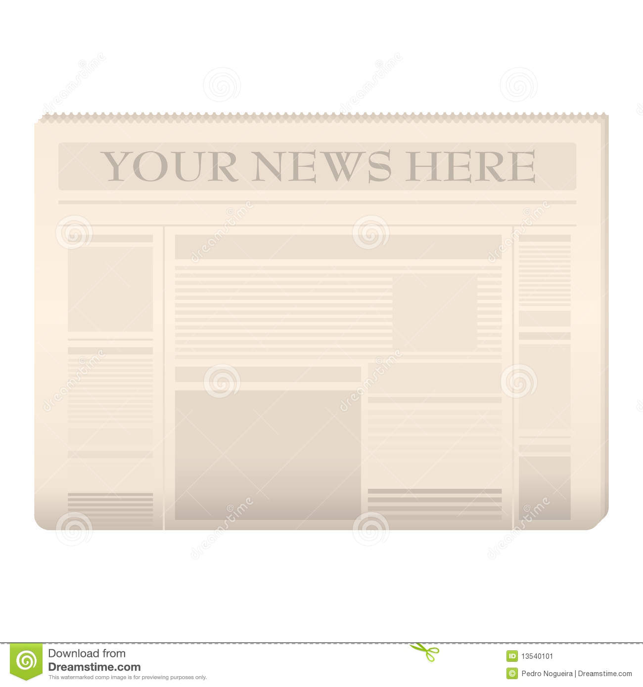 Newspaper Headline Template Illustrations 299 Newspaper – Newspaper Headline Template