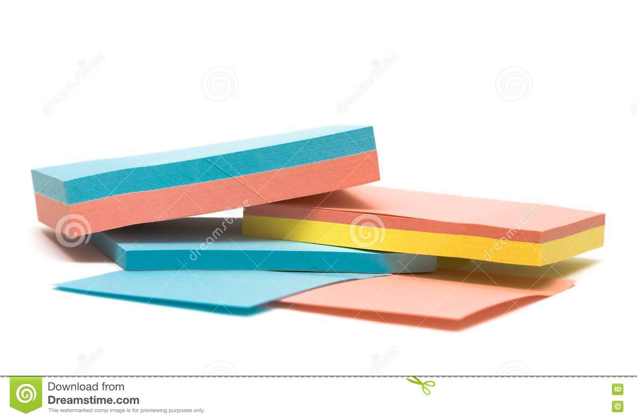 notebook with colored pages colored pages of notebook stock photography image 10140212