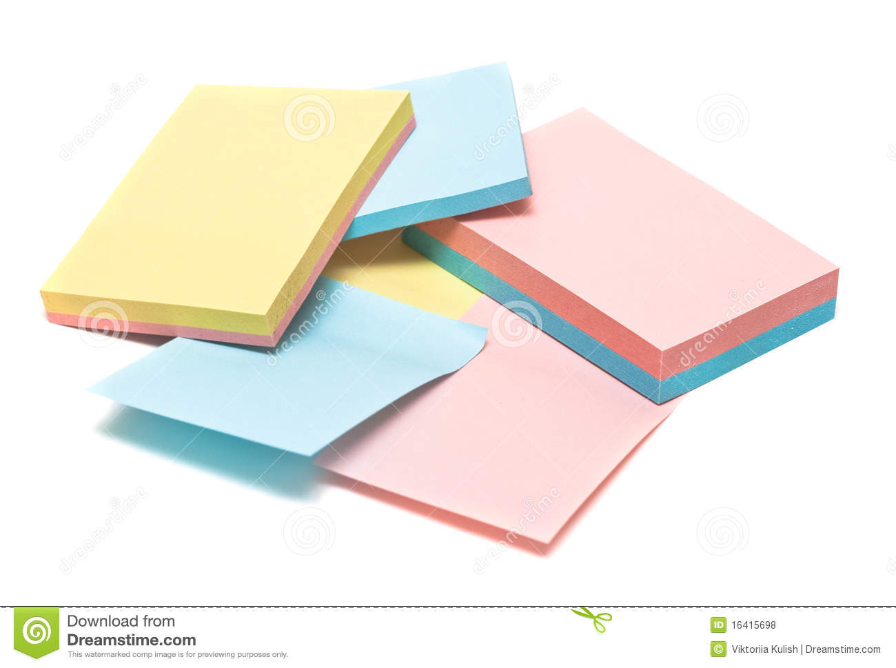 Colored pages of notebook royalty free stock photos for Notebook with colored pages