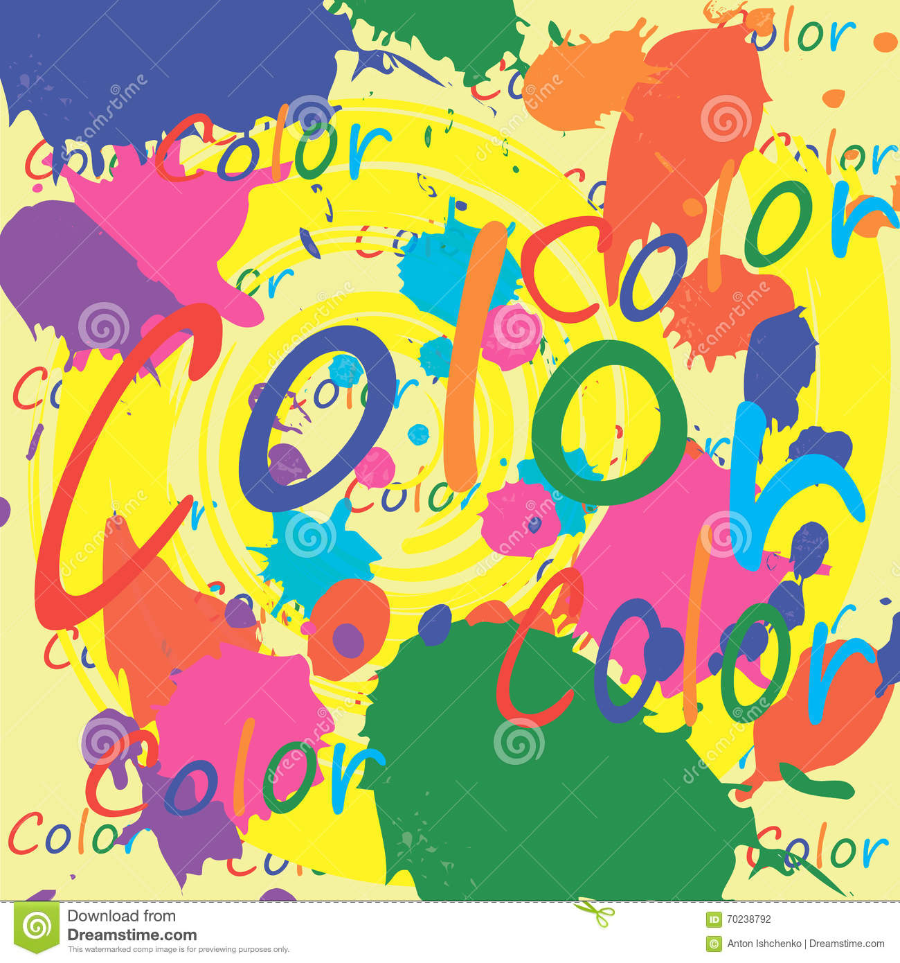 Book Cover Template Paint ~ Colored paint splashes on white background stock vector