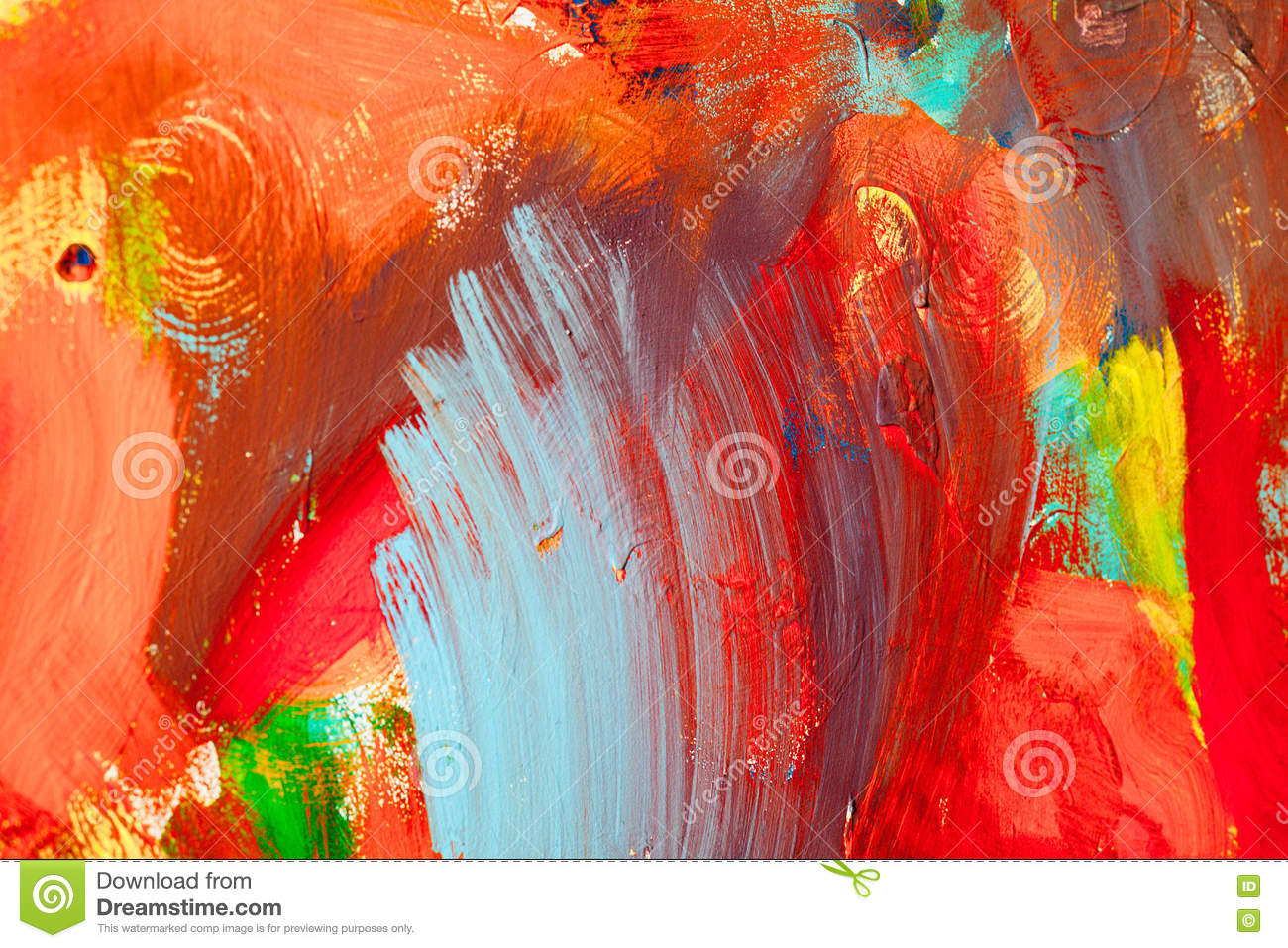 Colored paint strokes. Abstract art background. Detail of a work of art. Contemporary Art. Colorful texture. thick paint