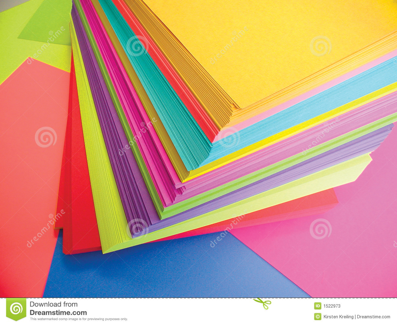 Colored Paper Stock Photos - Image: 1522973