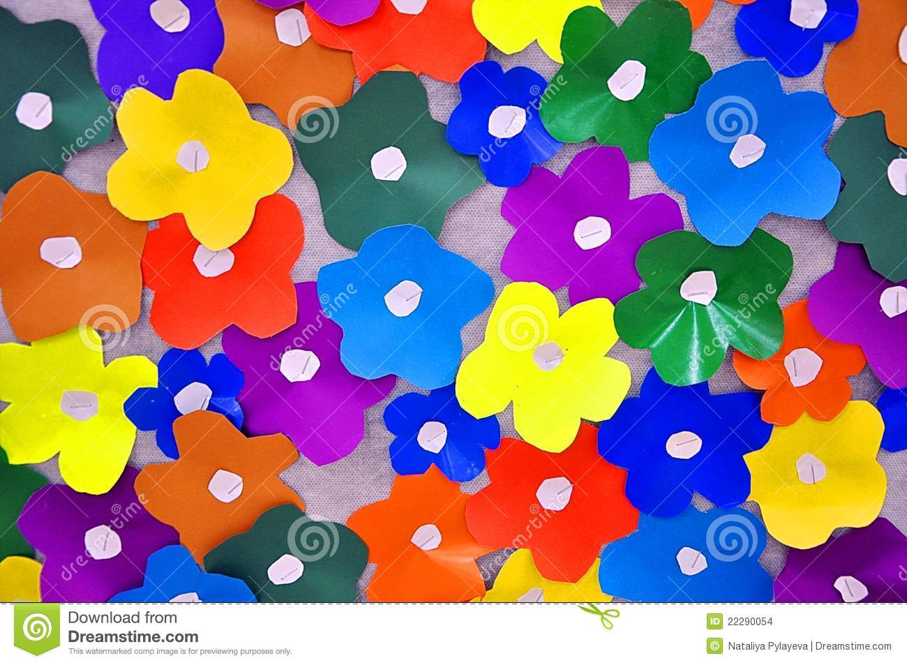 Colored paper flowers stock photo image of color material 22290054 colored paper flowers mightylinksfo
