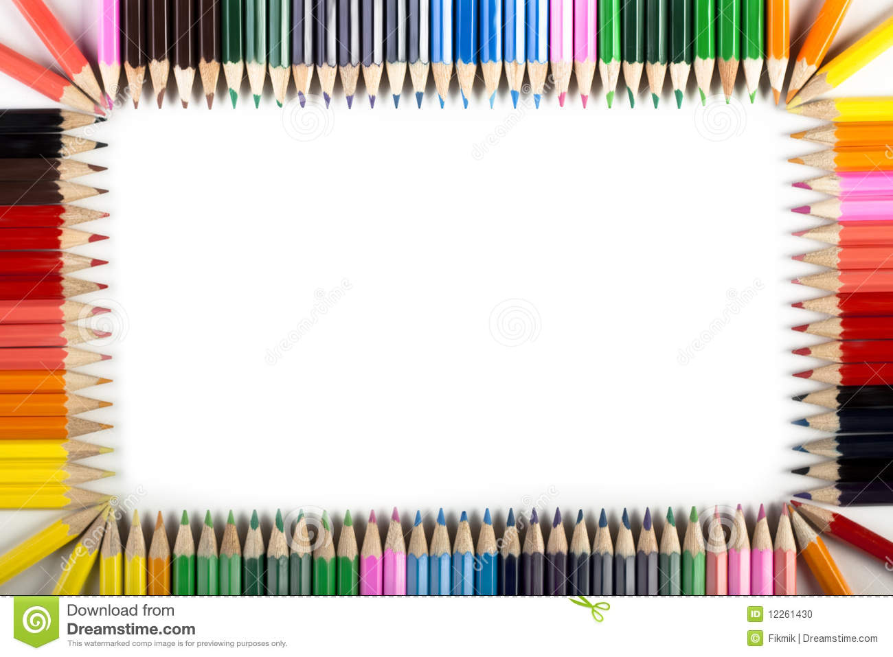 colored pencils abstract border stock illustration - image: 12261430, Powerpoint templates