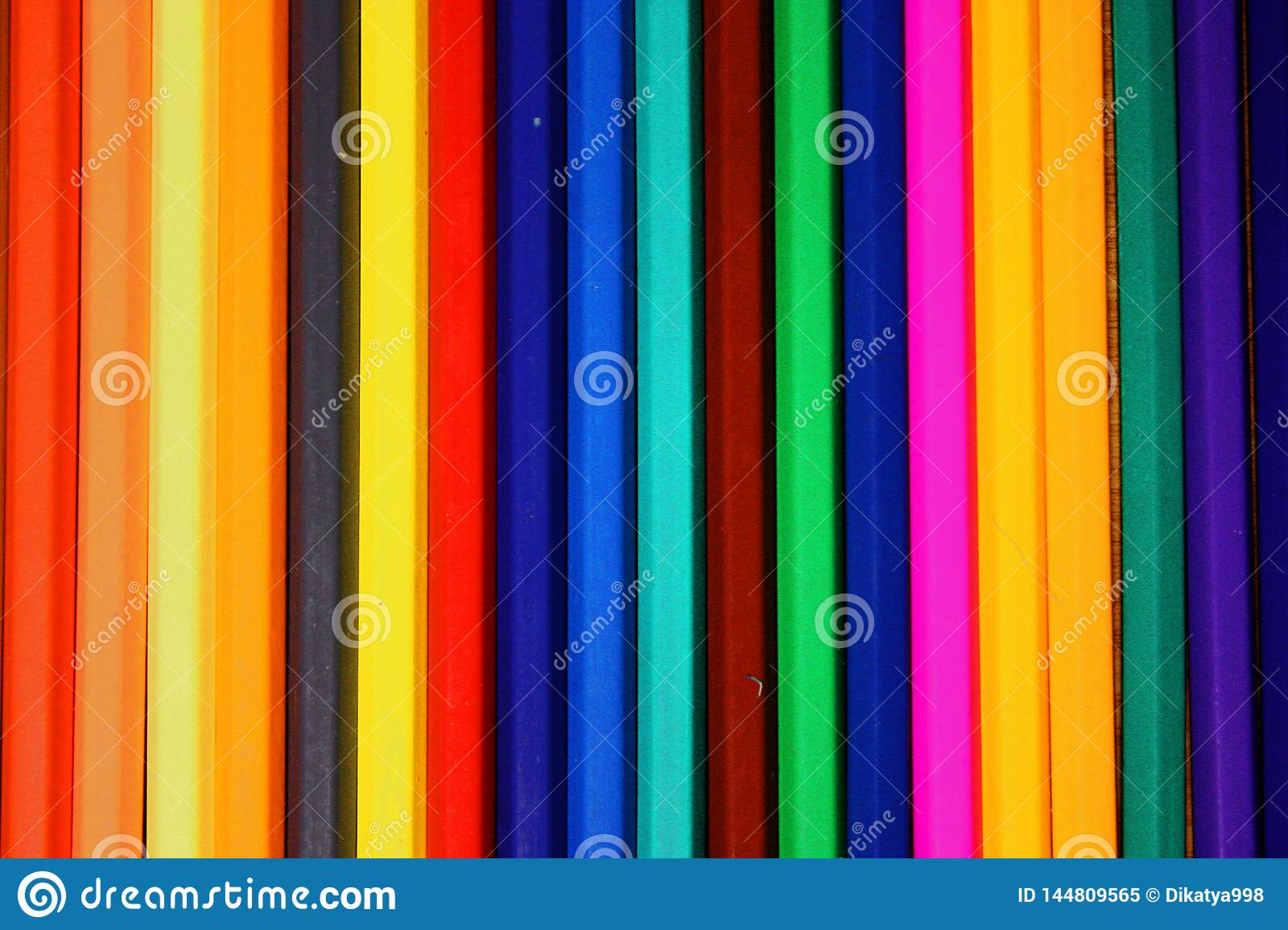 Colored Pencils Row Background / Texture Stock Image ...