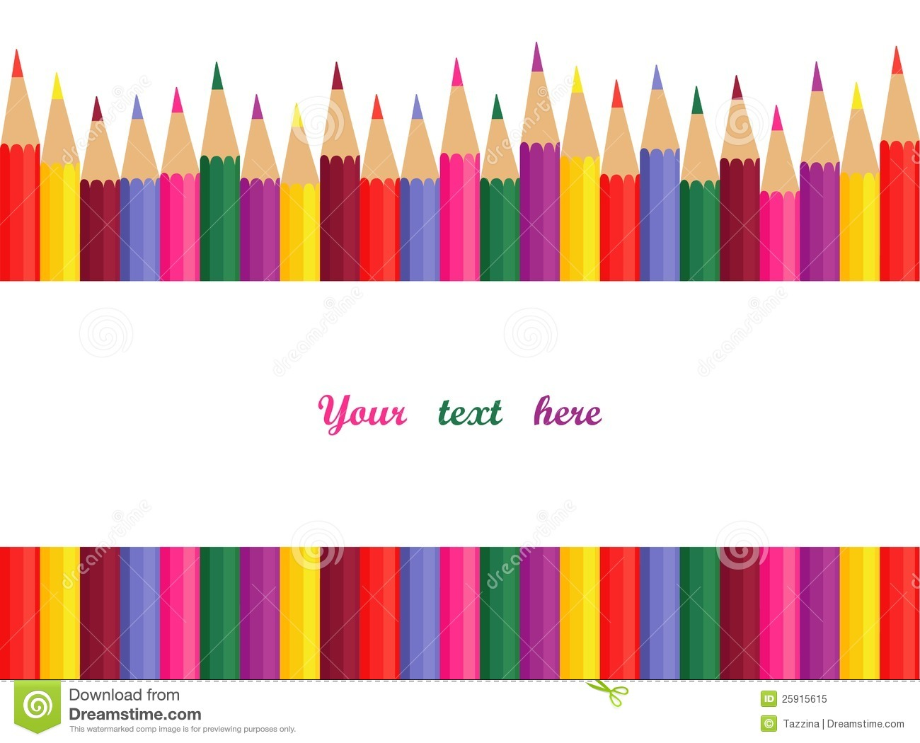 Colored Pencils With Space For Text Royalty Free Stock Photo - Image ...
