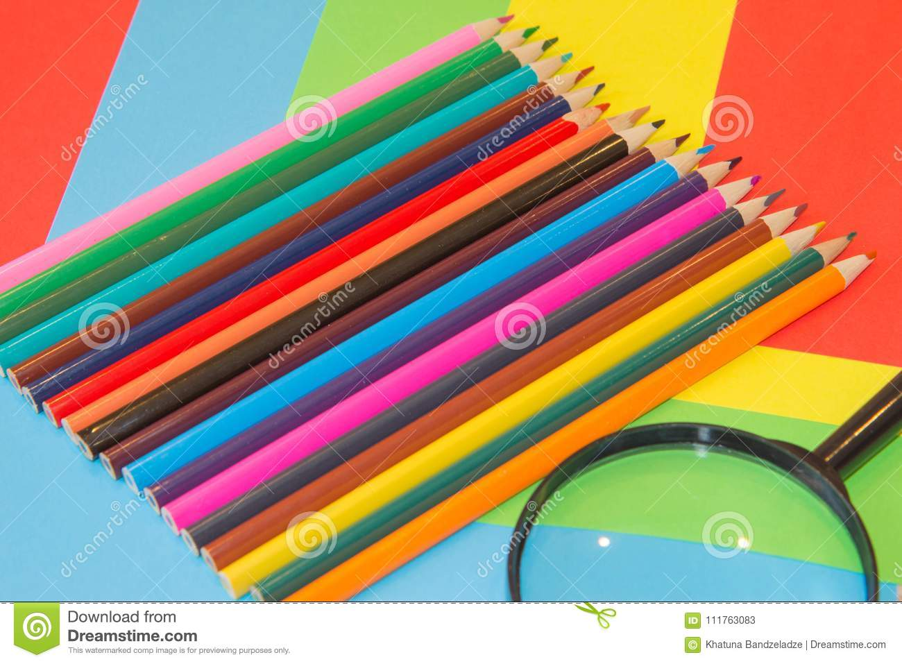 Colored Pencils. Texture Wood Colored Pencils Stock Image ...