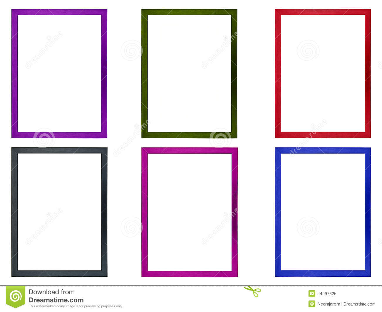 Colored Photo Frames stock image. Image of isolated, color - 24997625