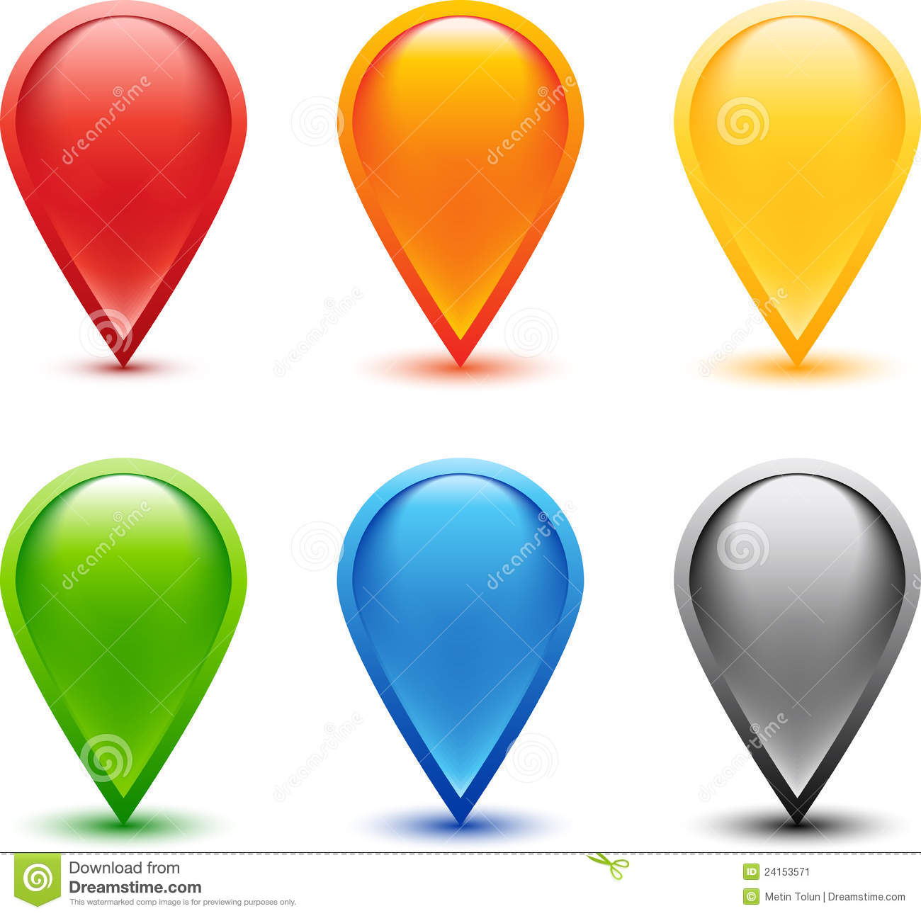 Colored Pin Set Stock Image Image 24153571