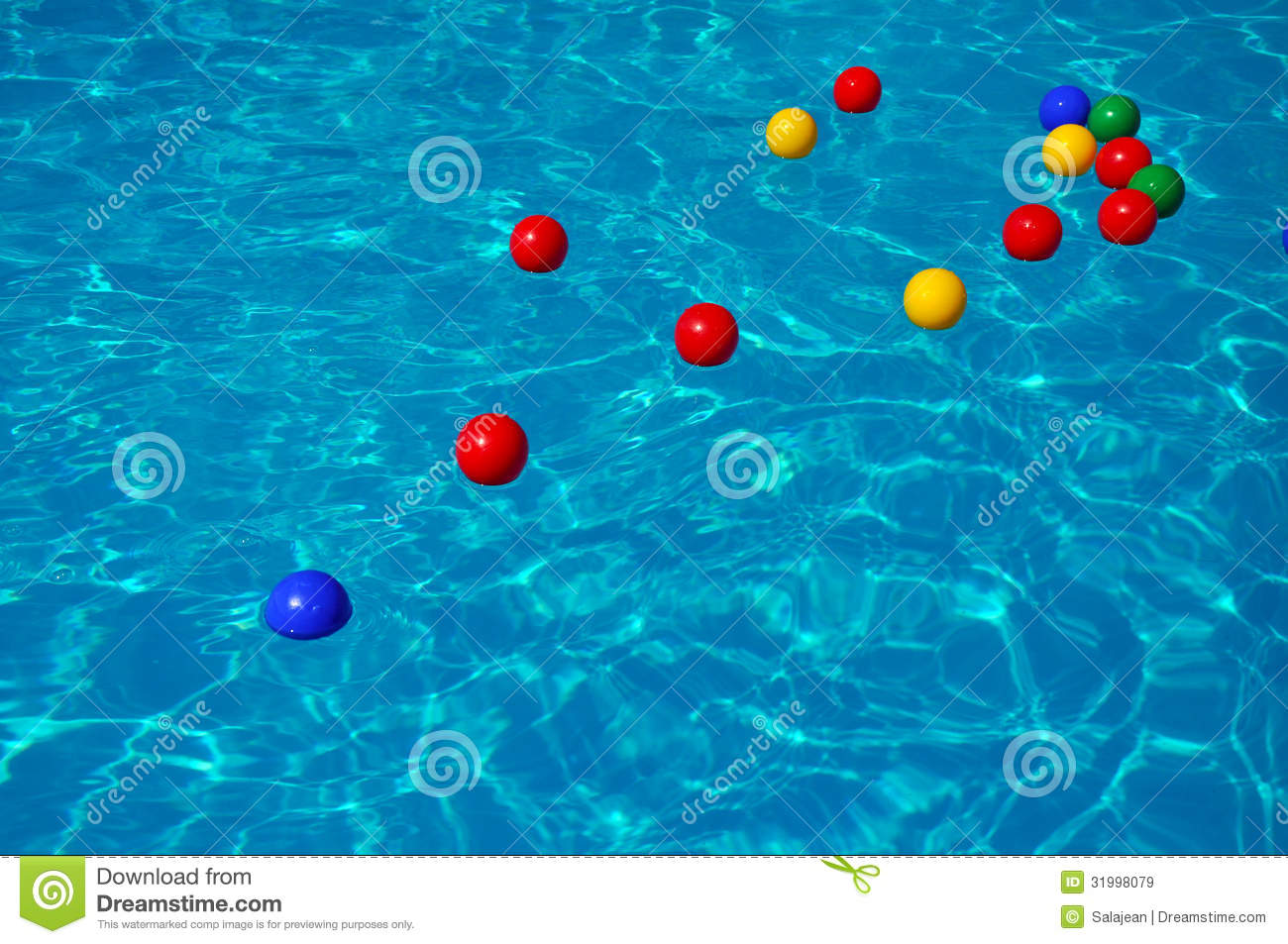 Colored Plastic Balls In A Swimming Pool Royalty Free