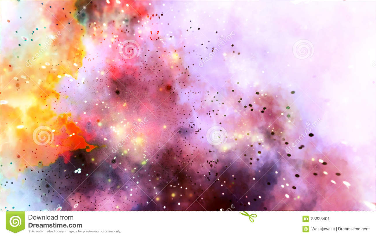 Colored Rainbow Galaxy Explosion Strars Abstract Background