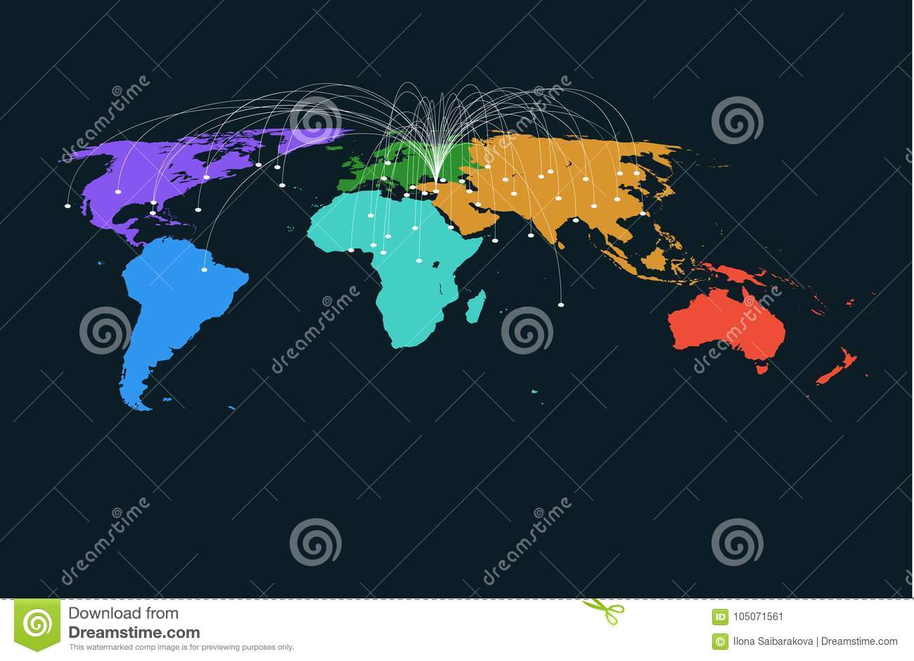Colored region world map vector background stock vector colored region world map vector background royalty free stock photo gumiabroncs Choice Image