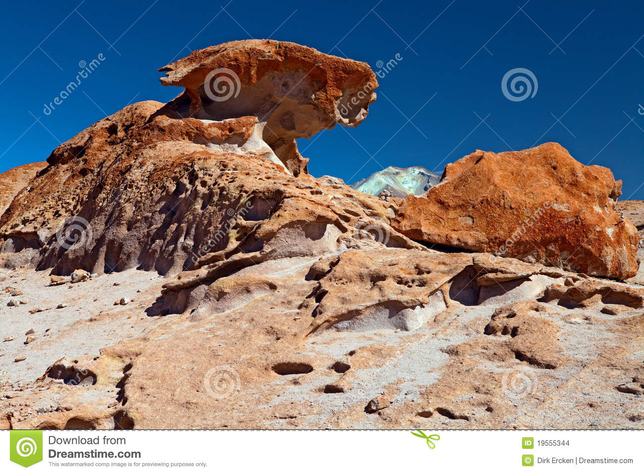 Colored Rock Formation Formed By Wind Erosion Stock Images ...
