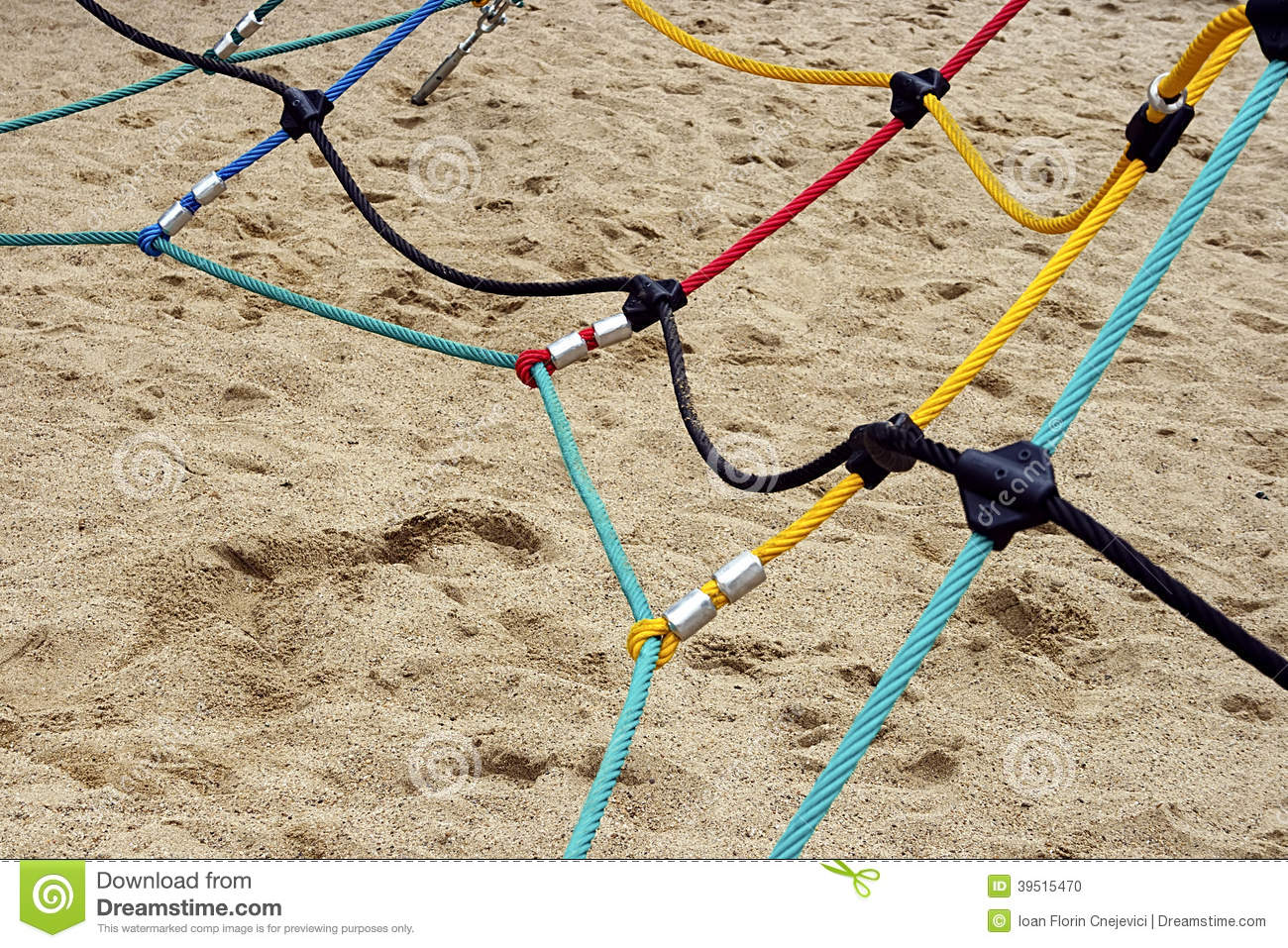 Colored ropes fastened together 2