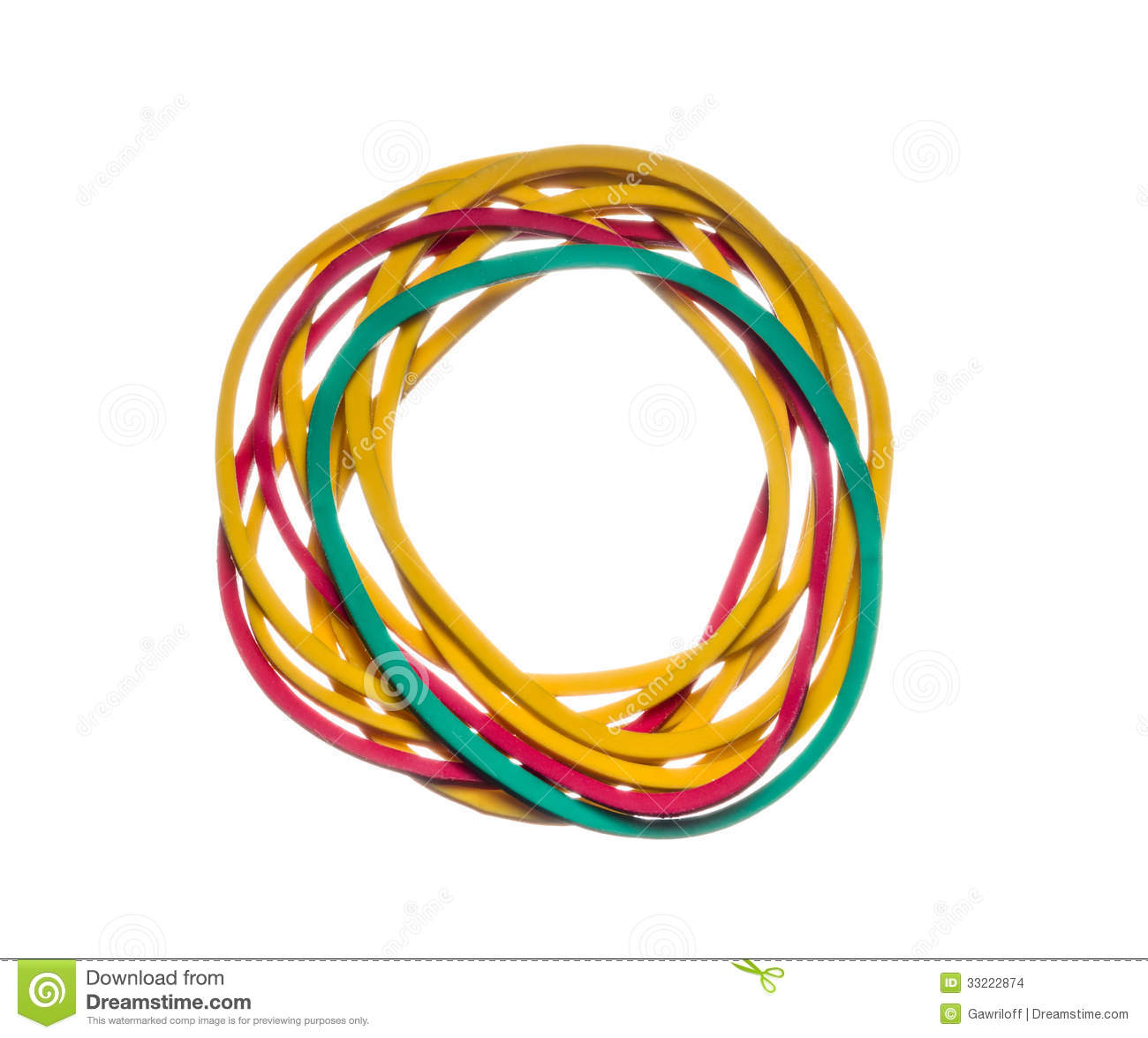 colored rubber bands stock images image 33222874