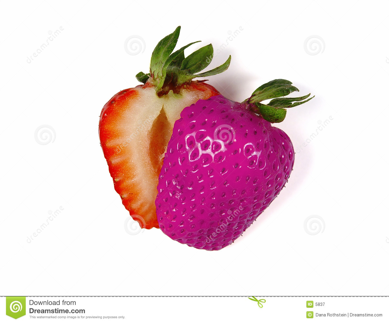 Colored Sliced Strawberry