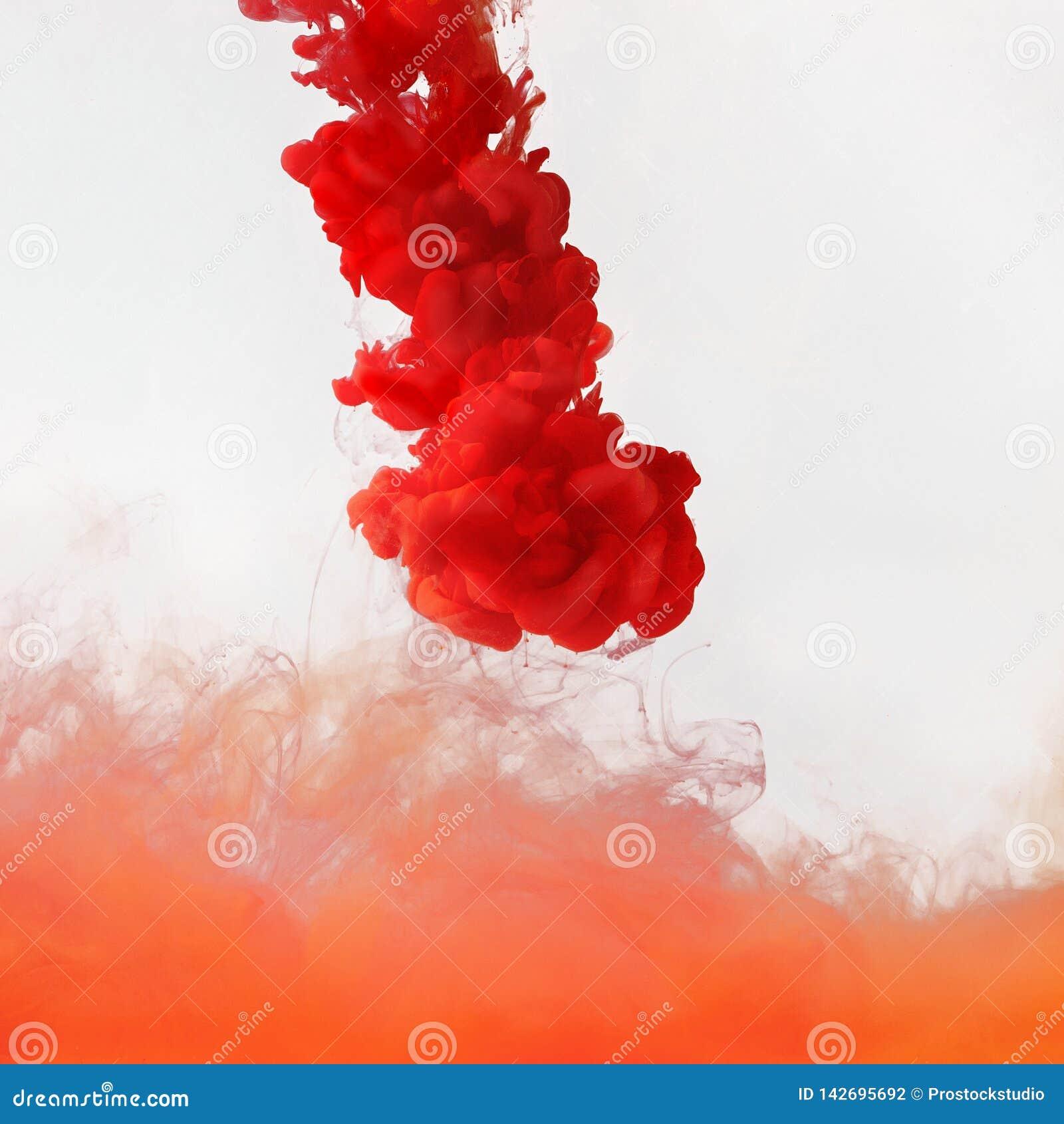 Colored smoke underwater