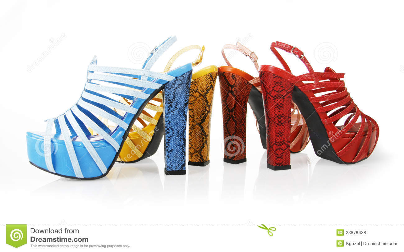 Colored snakeskin heels collections