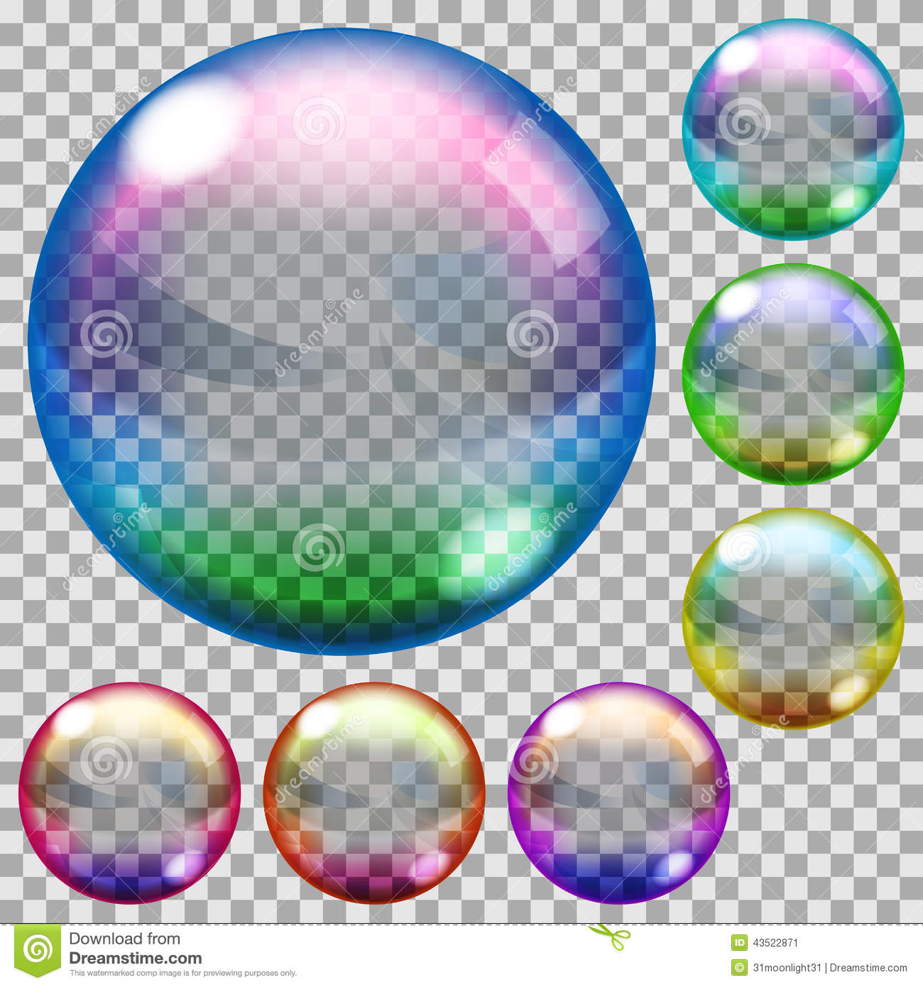 Colored Soap Bubbles Stock Illustration Image 43522871