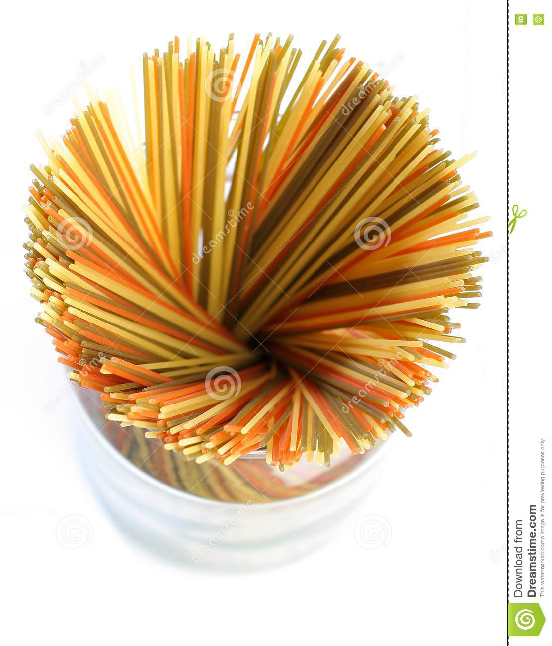 colored spaghetti from royalty free stock photos