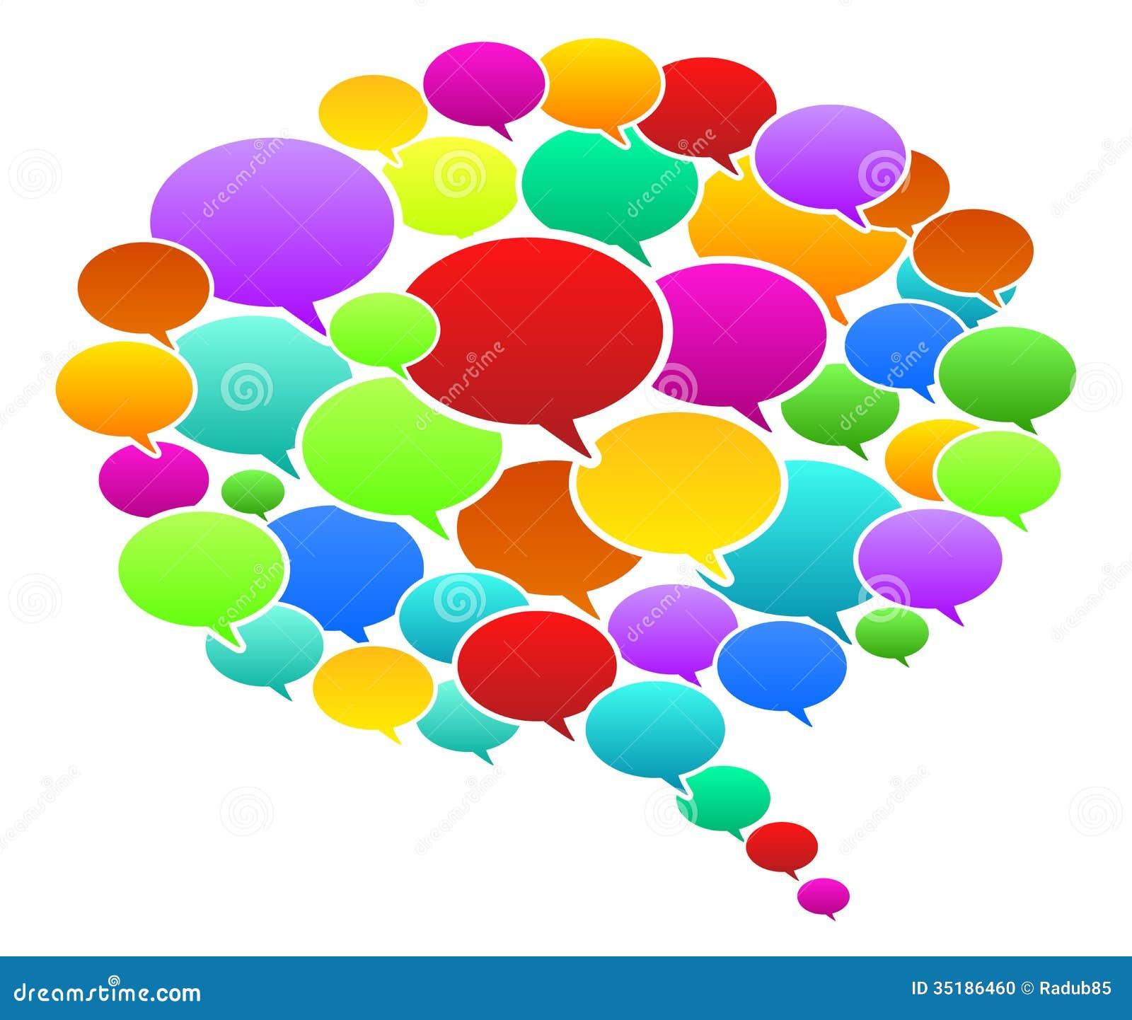Colored Speech Bubbles Stock Photo Image 35186460