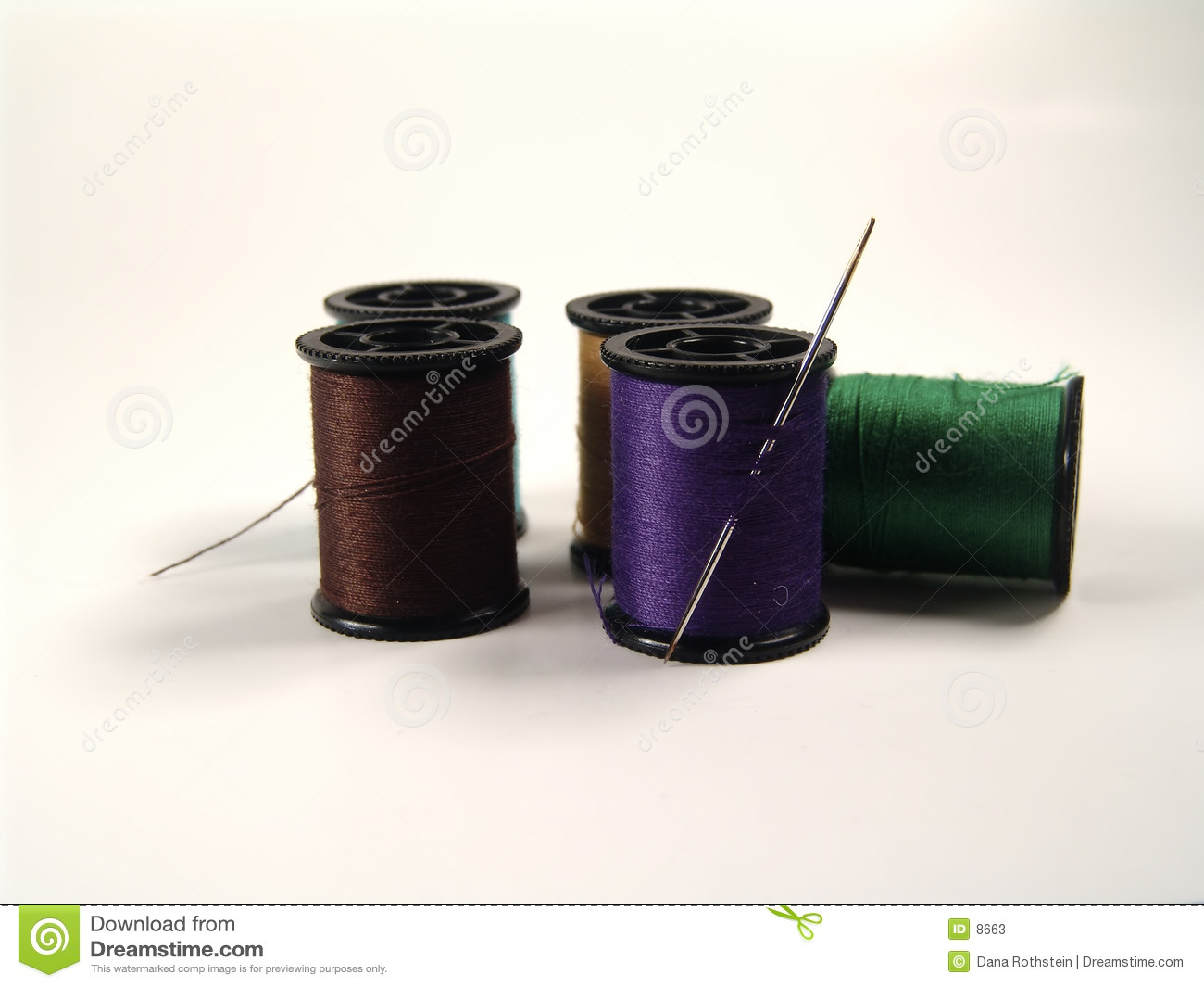 Colored Spools and Needle