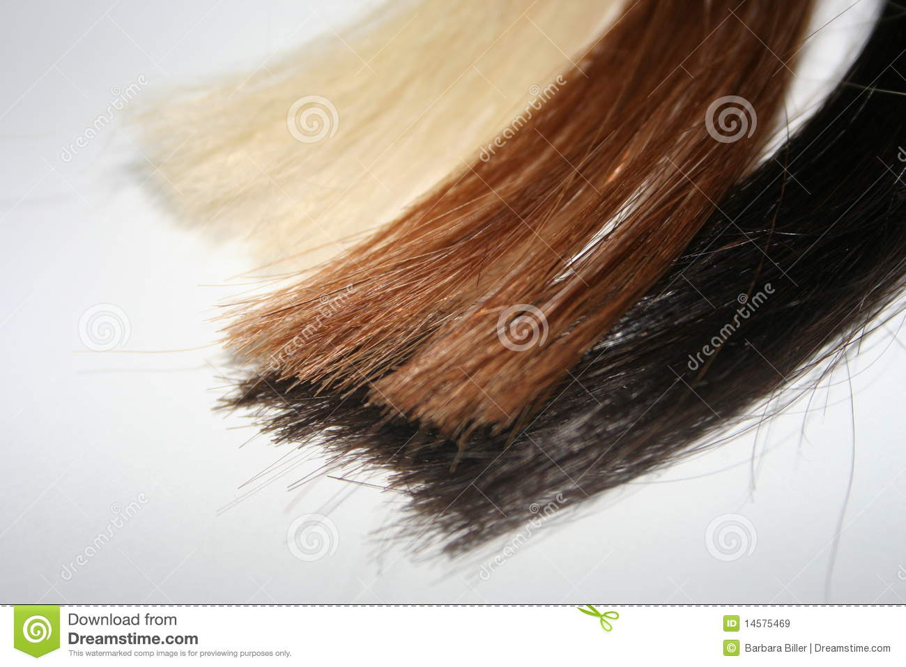 Colored Strands Of Hair Stock Image Image Of Brunette