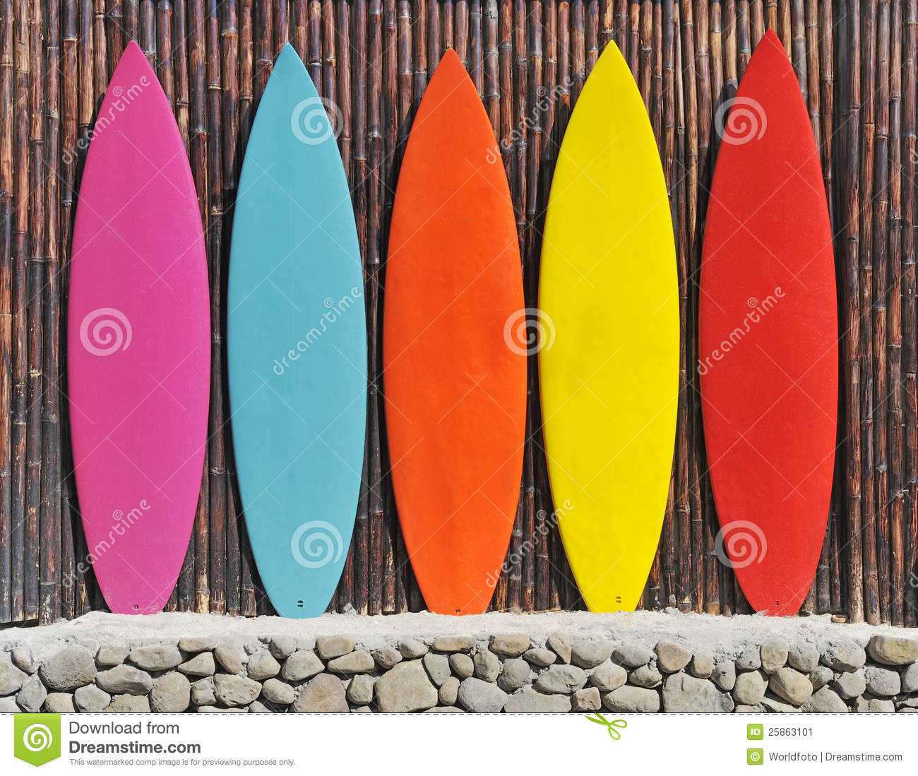 Colored surfboards