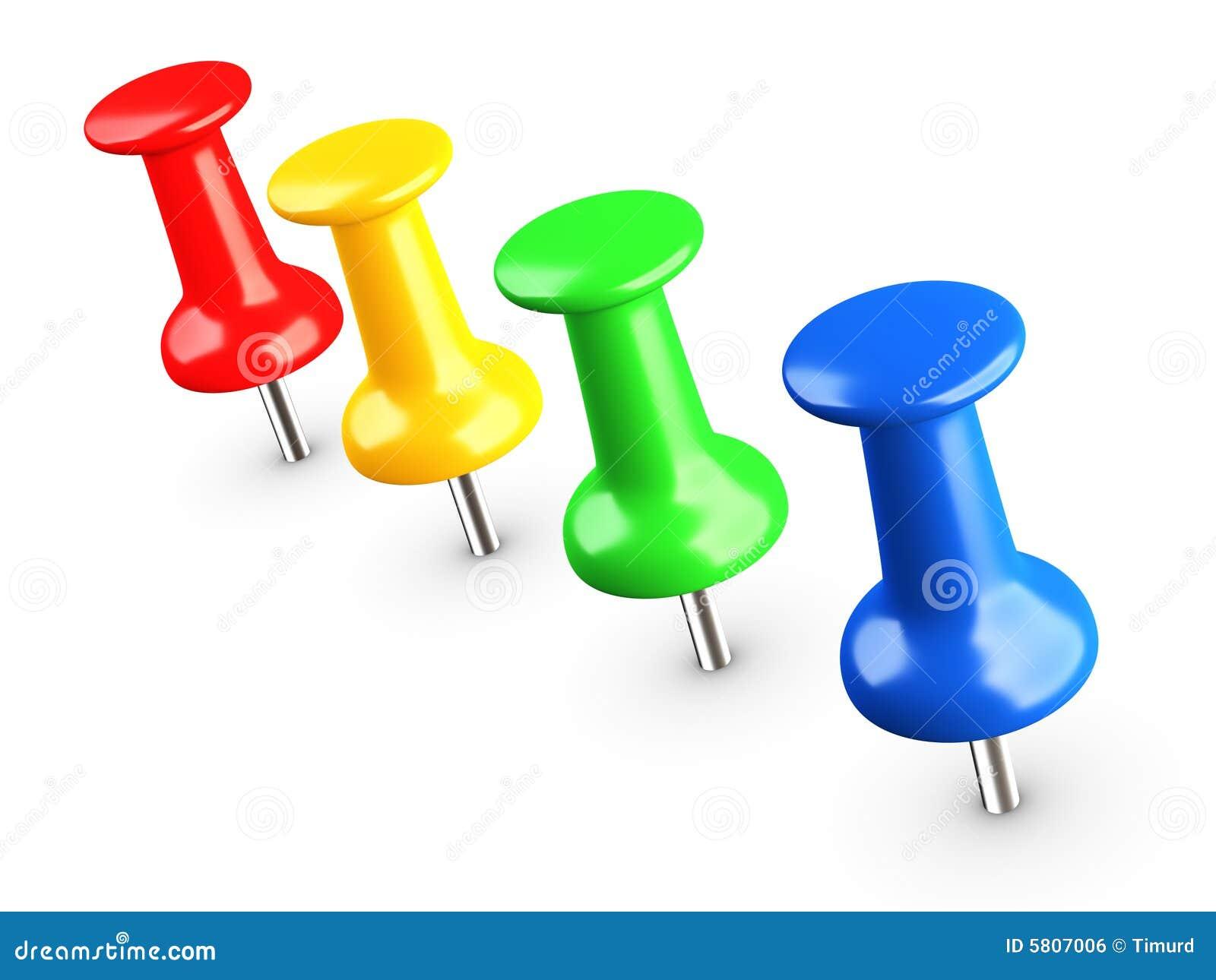 Colored thumbtacks, pin
