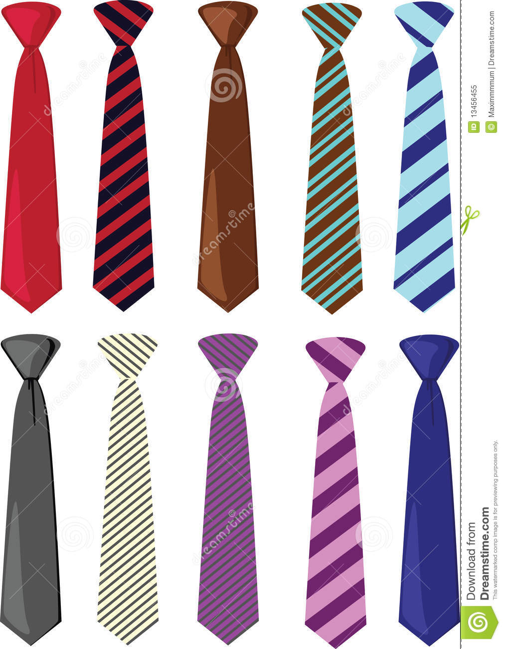 colored ties illustration royalty free stock photo