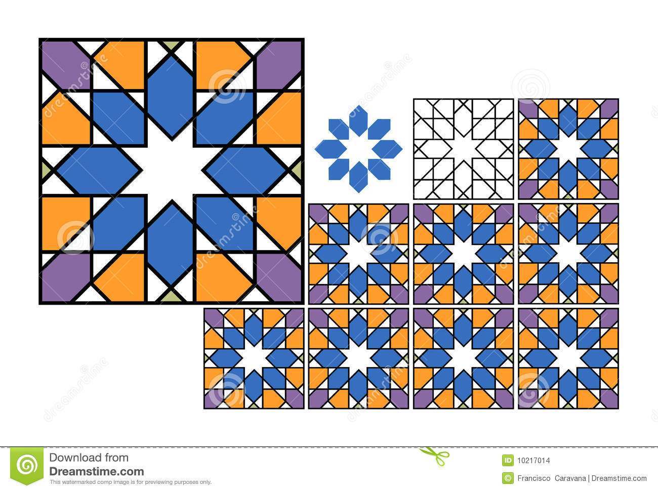 Colored Tiles - Vector