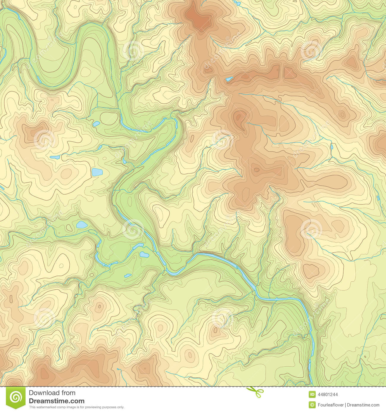 Colored Topographic Map Stock Vector Image Of Physical - Topographical map of texas