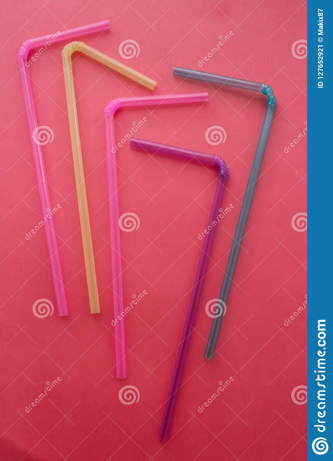 Colored tubes for drinks