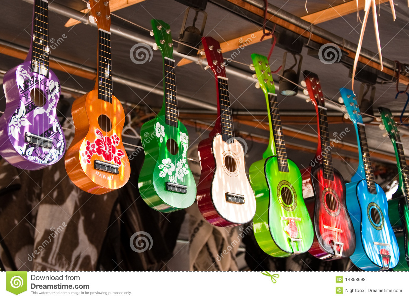 Colored ukulele