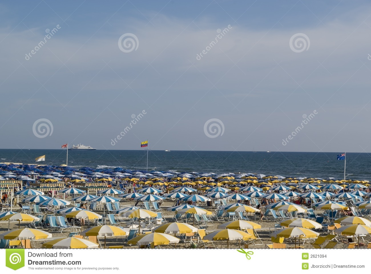 Colored umbrellas stock photo. Image of toscana, sailing ...