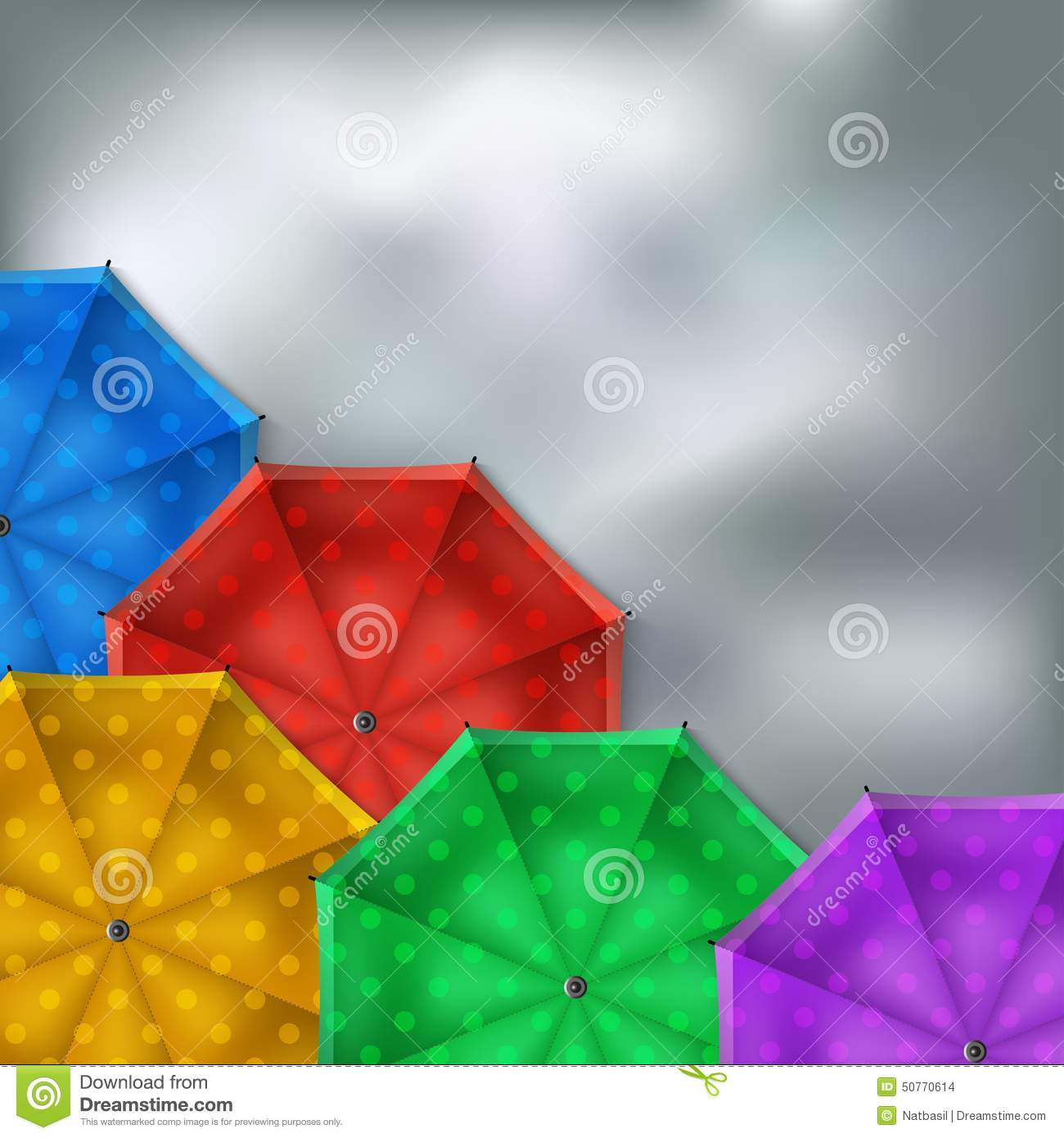 Colored Umbrellas Background Stock Vector - Illustration ...