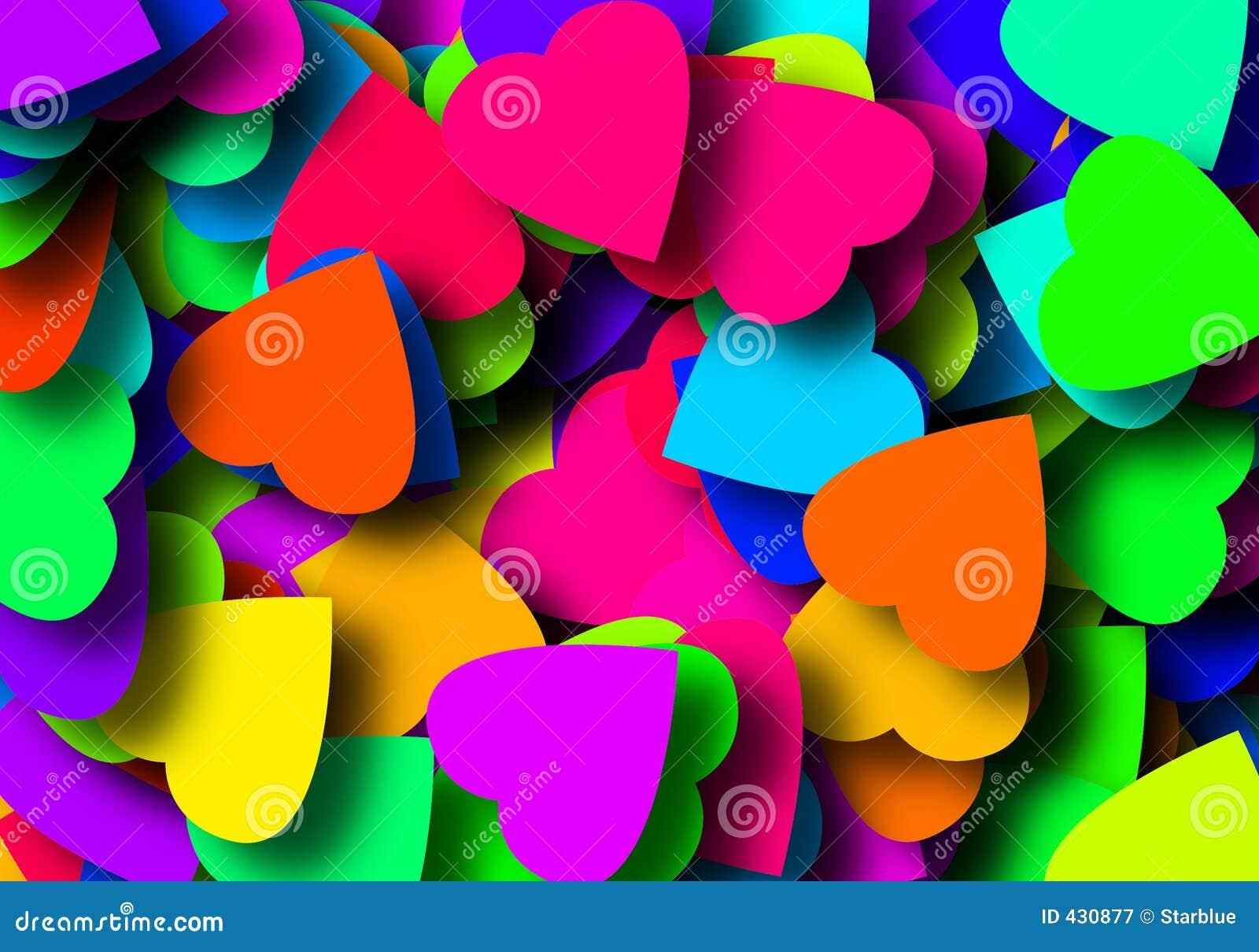 Colored valentines