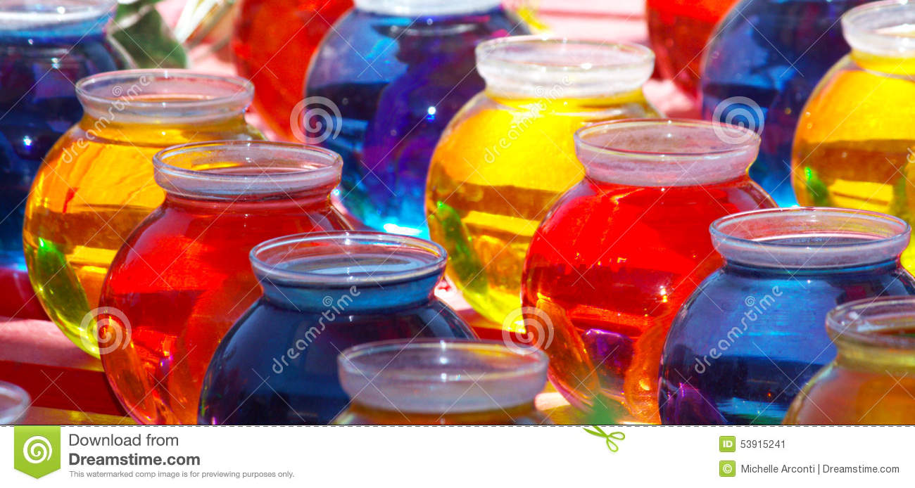 Colored Water in Bowls stock image. Image of colored - 53915241
