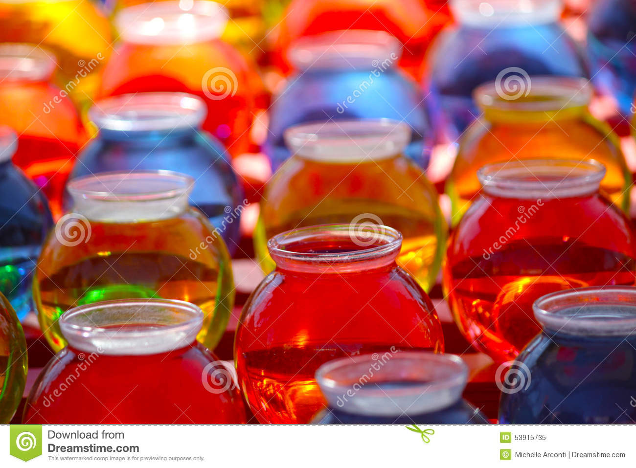 Colored Water in Bowls stock image. Image of yellow, backgrounds ...